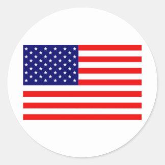 Amerikanische Flagge Runde Aufkleber