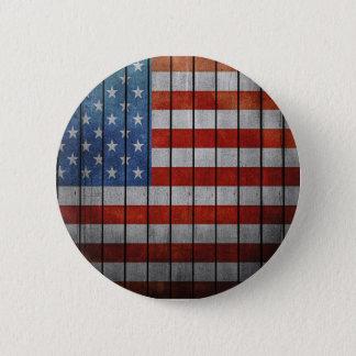 Amerikanische Flagge Runder Button 5,1 Cm