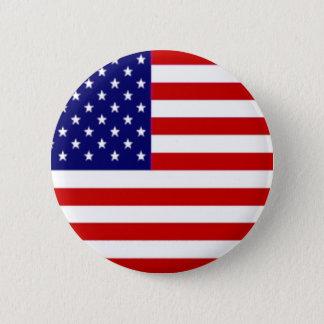 Amerikanische Flagge Runder Button 5,7 Cm