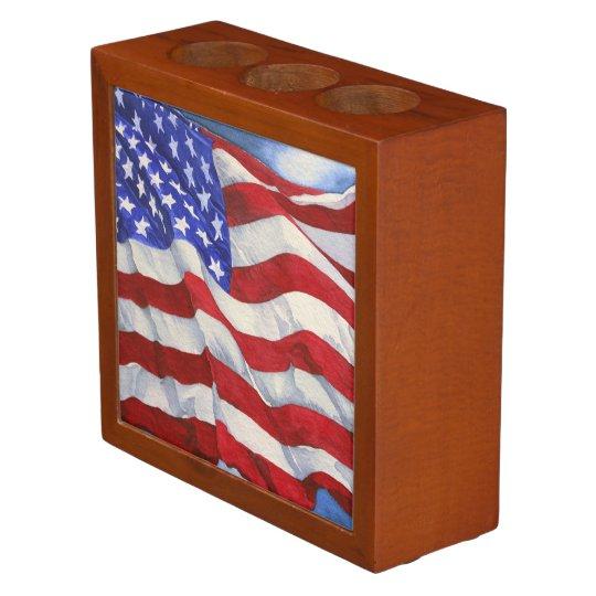 Amerikanische flagge schreibtisch organisator for Schreibtisch yosemite