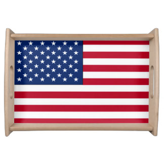 Amerikanische Flagge Serviertablett