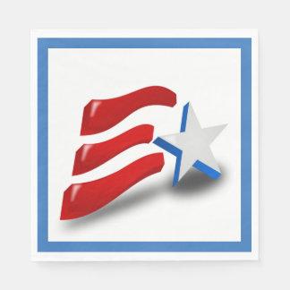 AMERIKANISCHE FLAGGE SERVIETTE