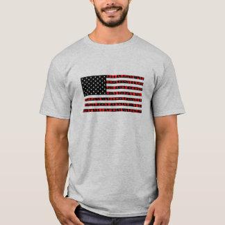 Amerikanische Flagge - Staat-Einheit T-Shirt