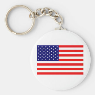 Amerikanische Flagge Standard Runder Schlüsselanhänger