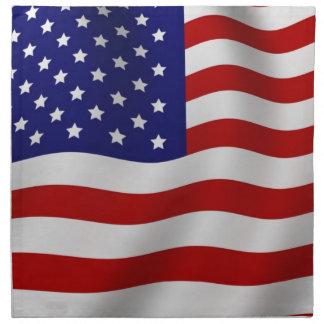 Amerikanische Flagge Stoffserviette