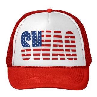 Amerikanische Flagge SWAG roter Maschen-Hysteresen Netzmützen
