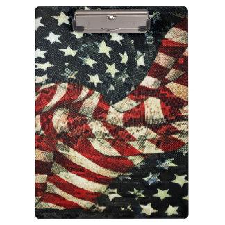 Amerikanische Flagge-Tarnung durch Shirley Taylor Klemmbrett