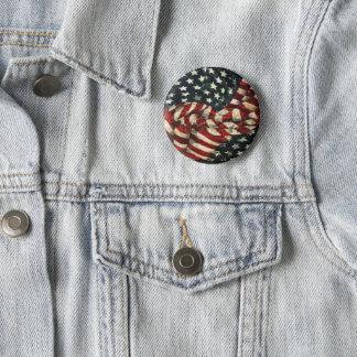 Amerikanische Flagge-Tarnung durch Shirley Taylor Runder Button 5,7 Cm