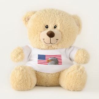Amerikanische Flagge u. Eagle-Teddybär Teddybär