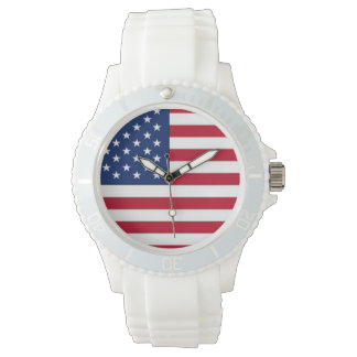 Amerikanische Flagge Uhr