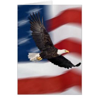 Amerikanische Flagge und Adler Grußkarte