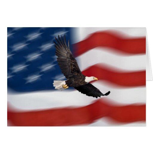 Amerikanische Flagge und Adler Karte