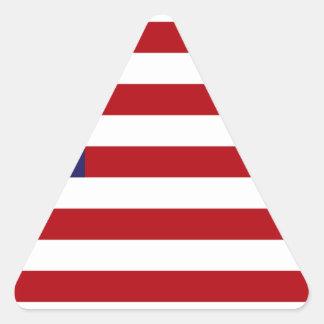 Amerikanische Flagge - US Flagge - alter Ruhm Dreieckiger Aufkleber