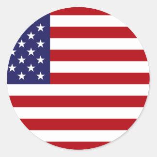 Amerikanische Flagge - US Flagge - alter Ruhm Runder Aufkleber