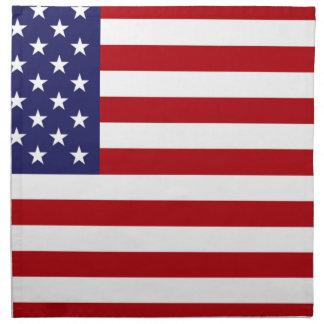 Amerikanische Flagge - US Flagge - alter Ruhm Stoffserviette