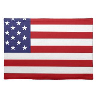 Amerikanische Flagge - US Flagge - alter Ruhm Stofftischset