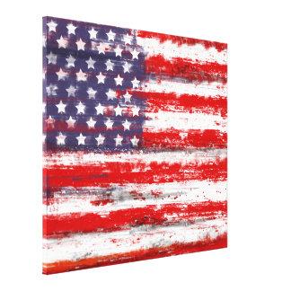 Amerikanische Flagge, USA-Flagge Gespannte Galeriedrucke