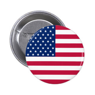 Amerikanische Flagge USA hat patriotischen runden Runder Button 5,7 Cm