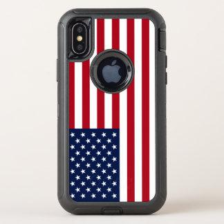 Amerikanische Flagge USA OtterBox Defender iPhone X Hülle