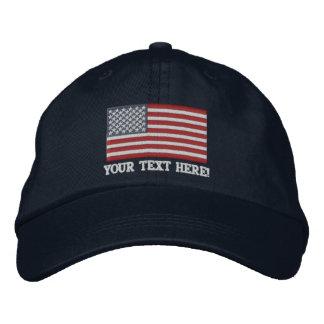 Amerikanische Flagge USA personifizieren es! Große Bestickte Caps