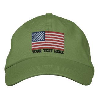 Amerikanische Flagge USA personifizieren es! Große Besticktes Baseballcap