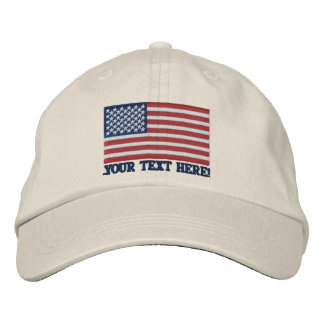 Amerikanische Flagge USA personifizieren es! Große Besticktes Cap