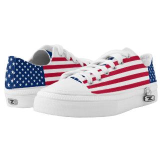 Amerikanische Flagge USA-Stolz Niedrig-geschnittene Sneaker