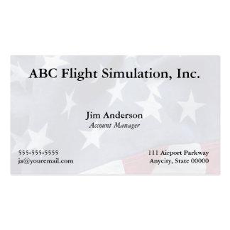 Amerikanische Flagge verblaßte zurück Visitenkarte