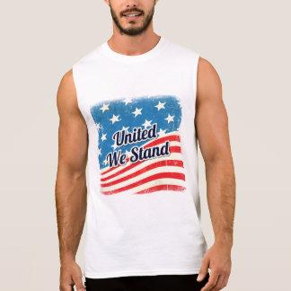 Amerikanische Flagge vereinigte uns stehen Ärmelloses Shirt