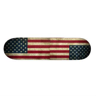 Amerikanische Flagge Vintager patriotischer Grunge Individuelle Skateboards