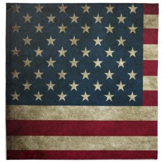 Amerikanische Flagge Vintager patriotischer Grunge Stoffserviette