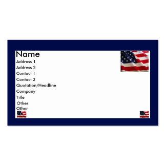 Amerikanische Flagge Visitenkarte