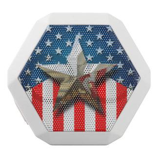 Amerikanische Flagge Weiße Bluetooth Lautsprecher