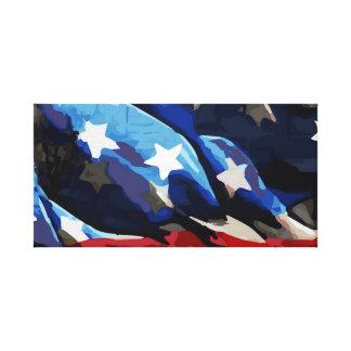 Amerikanische Flaggen-ausgedehnte Leinwand