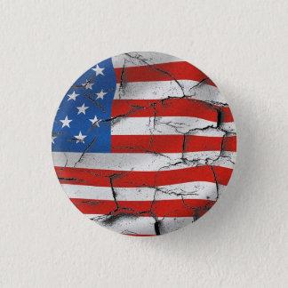 AMERIKANISCHE FLAGGEN-BUTTON RUNDER BUTTON 2,5 CM
