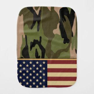 Amerikanische Flaggen-Camouflage Baby Spucktuch