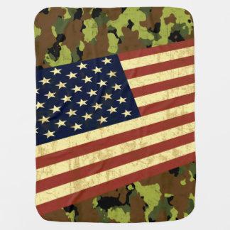 Amerikanische Flaggen-Camouflage Puckdecke
