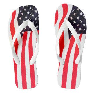 Amerikanische Flaggen-Erwachsener, breiter Bügel Flip Flops