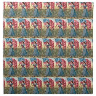 Amerikanische Flaggen-Frauen-Vintage Serviette
