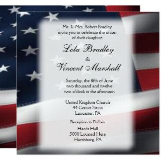 Amerikanische Flaggen-Hochzeits-u. Karte