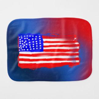 Amerikanische Flaggen-Imitat-3-D Entwurfburp-Stoff Spucktuch