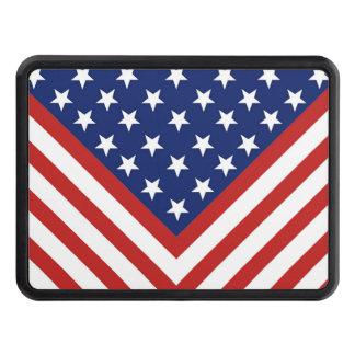 Amerikanische Flaggen-inspirierter Entwurf Abschlepphaken Verkleidung