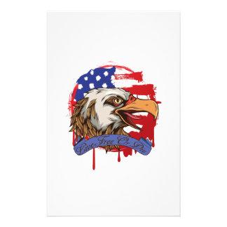 Amerikanische Flaggen-kahler Adler-lebhaftfreies Briefpapier