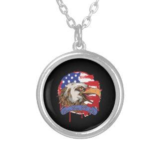Amerikanische Flaggen-kahler Adler-lebhaftfreies Halskette Mit Rundem Anhänger