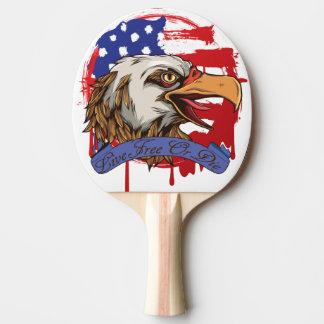 Amerikanische Flaggen-kahler Adler-lebhaftfreies Tischtennis Schläger