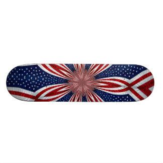 Amerikanische Flaggen-Kaleidoskop abstraktes 1 Skate Board
