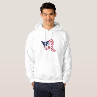 Amerikanische Flaggen-Liebe-Wringen-Wrestling Hoodie