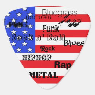 Amerikanische Flaggen-Musik-Jazz-Plektrum USA Plektron