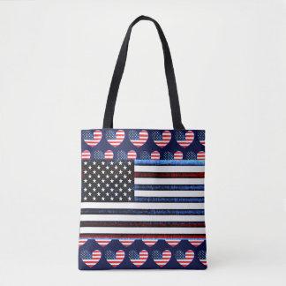 Amerikanische Flaggen-patriotische rote weiße Tasche