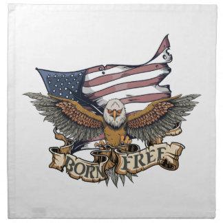 Amerikanische Flaggen-patriotisches kahler Stoffserviette